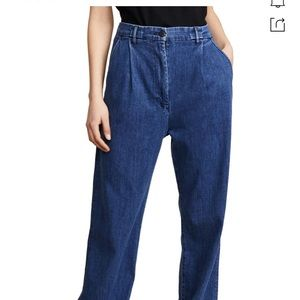3x1 pleated oversized day jeans